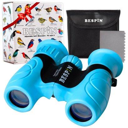 bespin high-resolution kids binoculars - durable wide angle birding binoculars