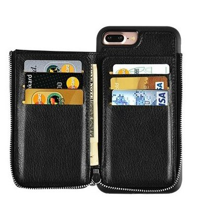 lameeku iphone 7 plus/8 plus wallet case with cards and cash holder