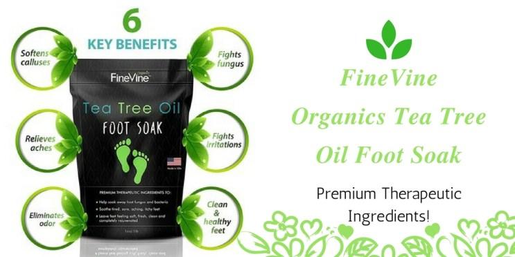 FineVine Organics Tea Tree Oil Foot Soak