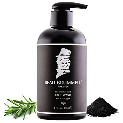 beau brummell for men the gentlemen's face wash activated charcoal facial cleanse for all skin types 8 fl. oz. made in usa