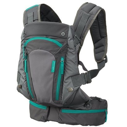 infantino carry on carrier with 6 practical pockets and four carrying positions