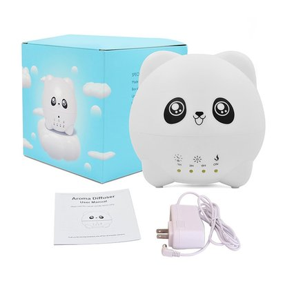 oulylan 300ml aromatherapy essential oil diffuser with two humidifier outlet and 7 color led light - very cute gift for kids