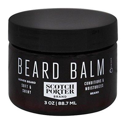scotch porter beard balm, conditions and moisturizes for soft and shiny beard 3oz