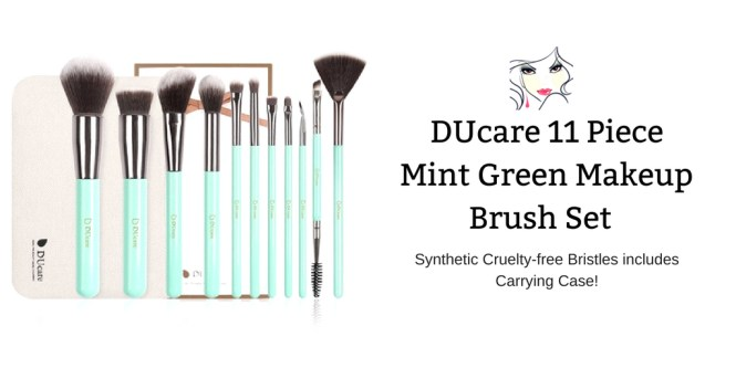 DUcare 11 Piece Mint Green Makeup Brush Set