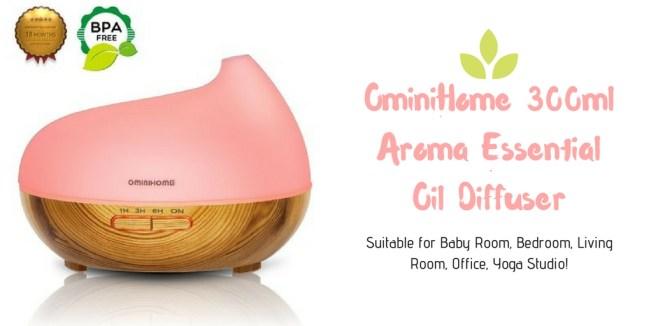 OminiHome 300ml Aroma Essential Oil Diffuser