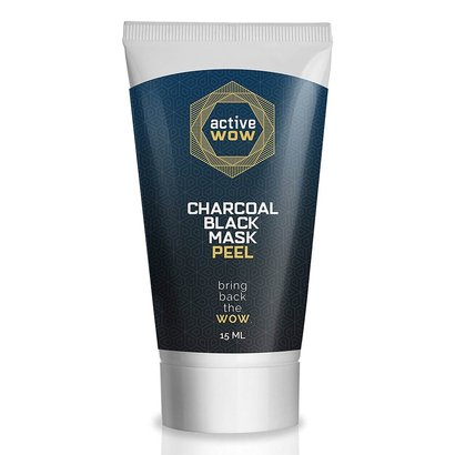 active wow activated charcoal black mask peel 15ml made in usa