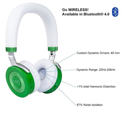 puro sound labs juniorjams premium wireless 85 dB volume limited kids headphones with bluetooth 4.0 technology and 87% noise isolation - great gift for children