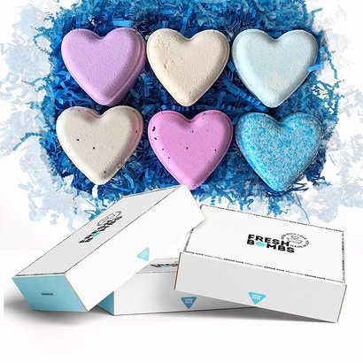 tortuga life heart fresh bath bombs set includes 6 different aroma with essential oils handmade in usa