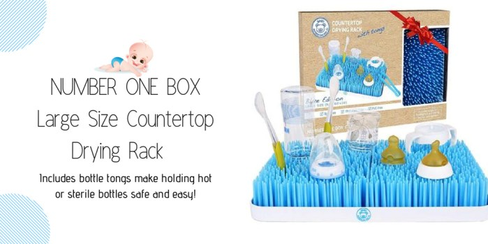 NUMBER ONE BOX Large Size Countertop Drying Rack for Baby Bottle