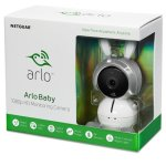 netgear arlo baby 1080p hd monitoring camera with night vision, 2-way talk, air sensor, music player, works with amazon alexa, apple homekit and more