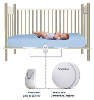babysense 7 the original non-contact baby movement monitor with two sensitive sensor pads cover entire bed area