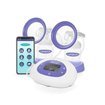 lansinoh smartpump double electric breast pump with bluetooth technology contains one double electric pump and accessories