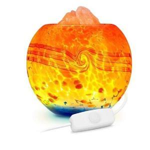 Lucktao Dimmable Himalayan Crystal Rock Salt Lamp with LED lighting