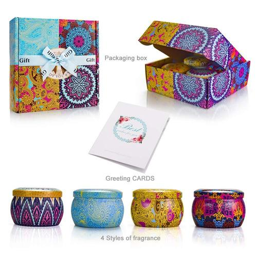 Y YUEGANG Scented Candles Set in Gift Box