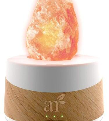 2 in 1 Himalayan Rock Salt Lamp with Aromatherapy Diffuser by ArtNaturals