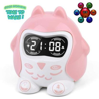 Avian Alarm Clock with Night Lights for Kids by Mesqool