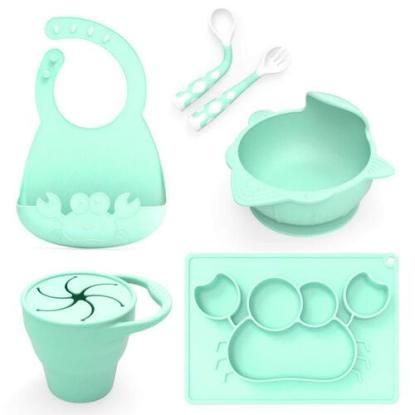 BPA Free 5 pieces Baby Feeding Set by Le Bebe La Mama