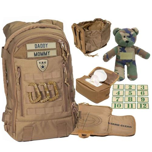 Tactical Baby Gear Full Load Out 3.0 Daypack Men's Diaper Backpack Set