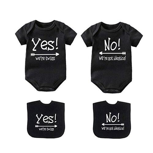 original and adorable twins matching set bodysuits made of premium quality 100% cotton by ysculbutol
