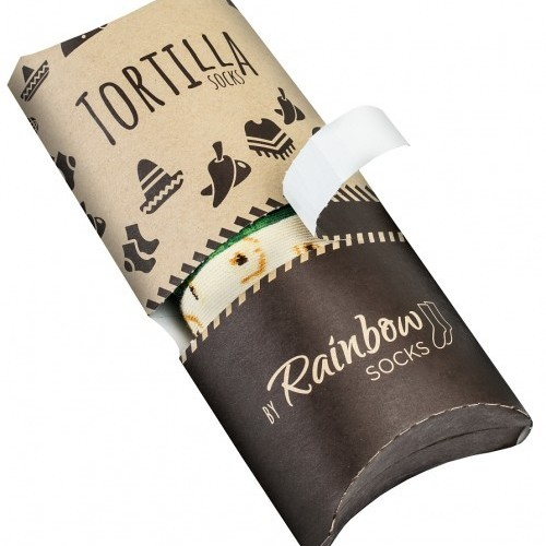two pairs tortilla sock in fun gift box for woman and man from rainbow socks