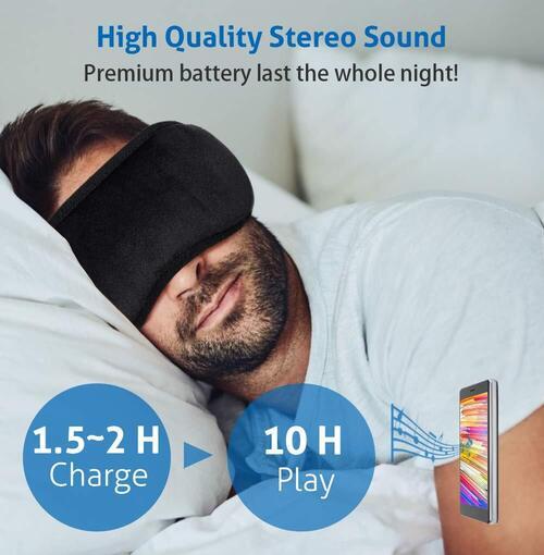 EverPlus Washable Sleep Mask with Bluetooth Headphones