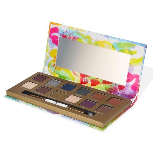 Mia del Mar Life is a Fiesta Jojoba Oil Clean Formula Eyeshadow Palette with Dual Ended Brush by Mia del Mar
