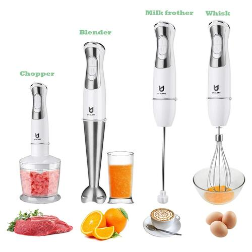 Utalent 250 watts Hand Immersion Blender with 8 Variable Speed Control and 4 Blade System