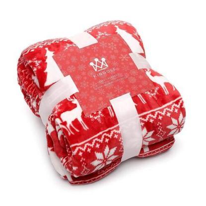 Kingole Exclusive Snowy Pattern Christmas Blanket