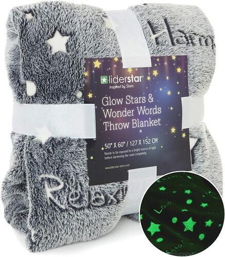 LIDERSTAR Glowing in the Dark Throw Blanket