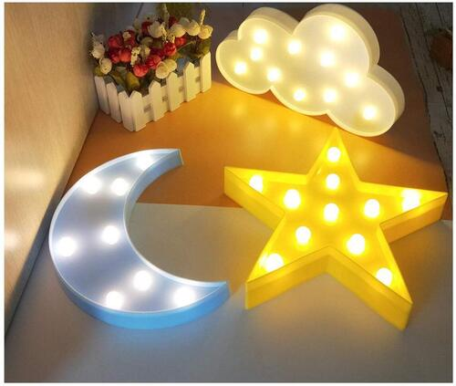 LUCKIEY Star, Crescent, and Cloud LED Night Lights Lamps