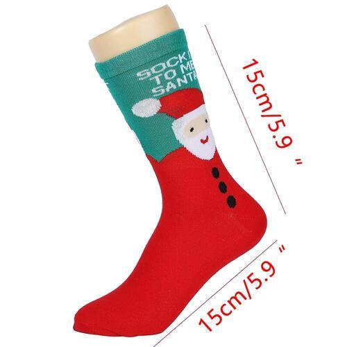 Loozykit machine washable Womens and Mens Christmas Socks