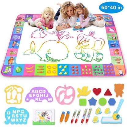 Toyk Alphabet and Animals Aqua Magic Mat with Accessories and Gift Box