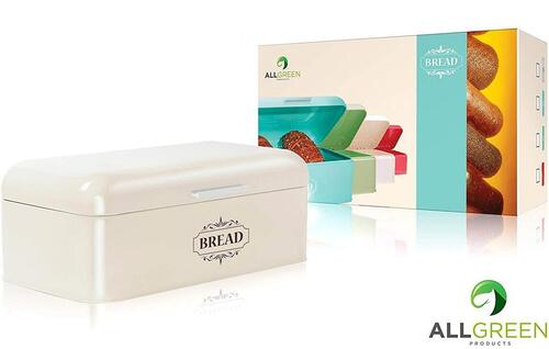All-Green Products Cold-rolled Steel Vintage Bread Box in Gift Color Box