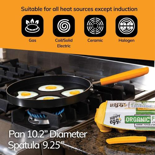 Choosy Chef heart and circle shaped egg pan