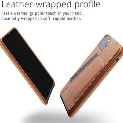 Mujjo Premium Full-grain Leather Wallet Case with Card Holder Pocket for iPhone 11 Pro Max