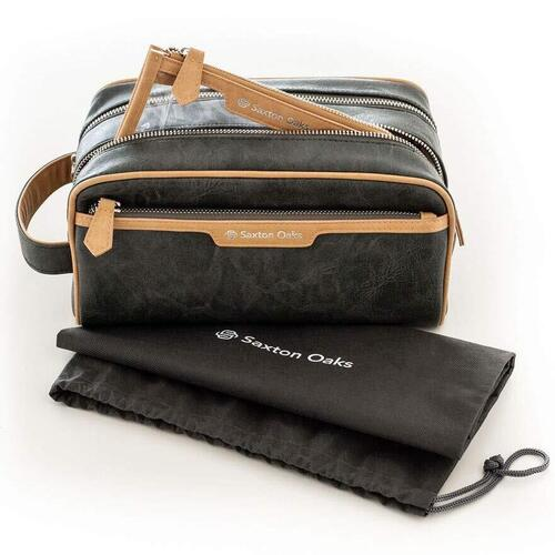 Saxton Oaks Three Bags in One Toiletry Set for Men with Convenient Carry Handle