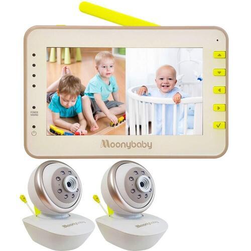MoonyBaby PAN & TILT Two Cameras Video Baby Monitor
