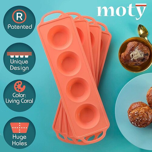 Moty 16 Cup 100% Silicone Muffin Pan