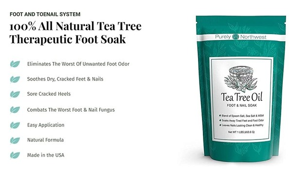 Purely Northwest Ultimate 4-in-1 Tea Tree Anti-fungal Foot Care Kit include Stainless Steel Clipper