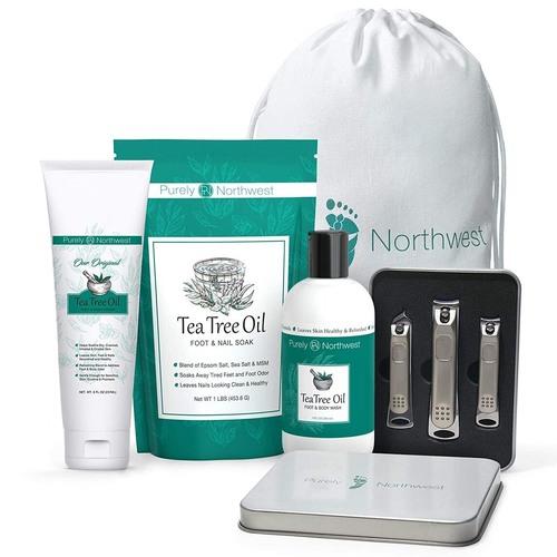 Purely Northwest Ultimate 4-in-1 Tea Tree Anti-fungal Foot Care Kit
