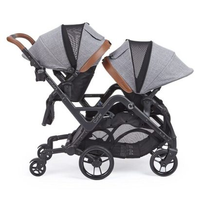Contours Curve Tandem Double Baby Stroller with Water-resistant Seats