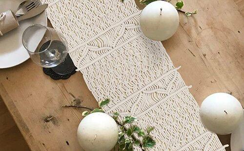 AerWo hand-woven Bohemian Themed Table Runner