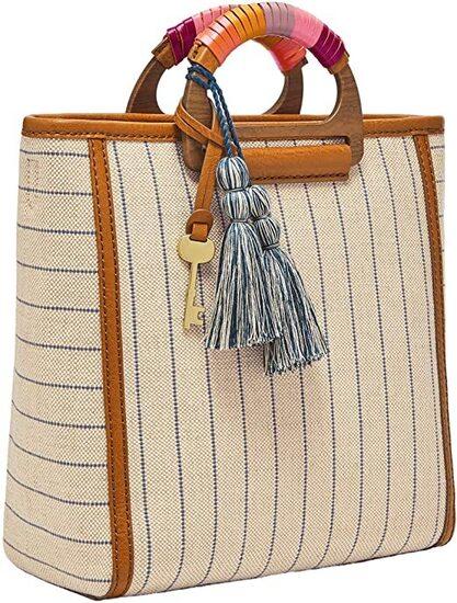 Fossil Camilla Leather Convertible Backpack Handbag Women