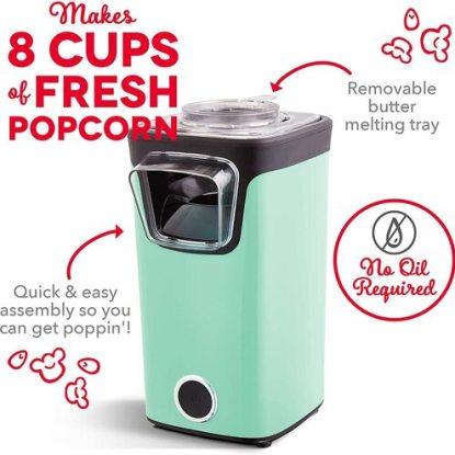 DASH Turbo Pop Popcorn Maker 8 cup Capacity
