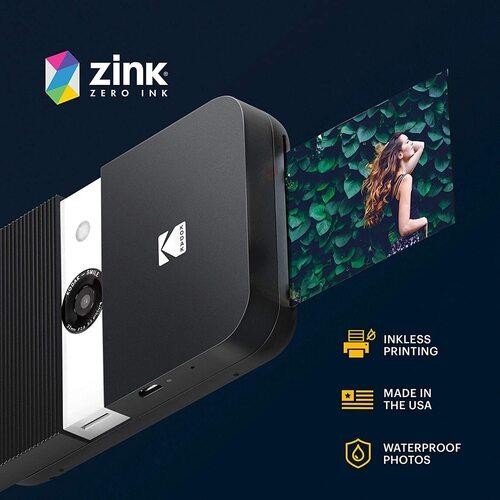 KODAK SMILE 10MP Instant Print Digital Camera with Compatible microSD Card