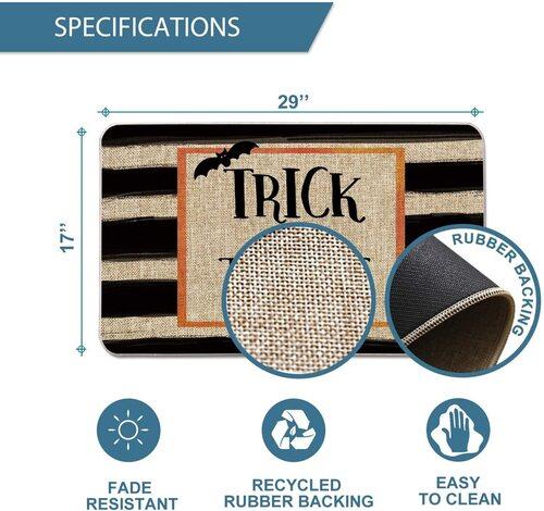 Artoid Mode Durable Halloween Trick or Treat Decorative Doormat