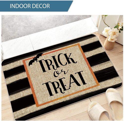 Artoid Mode Non-Slip Halloween Trick or Treat Decorative Doormat