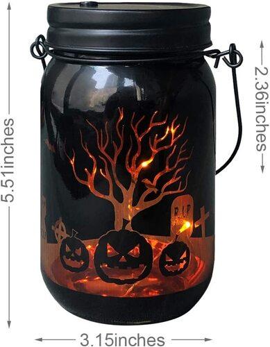 MJ PREMIER 3 pcs Mason Jar Halloween Home Decor