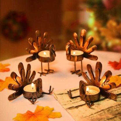 Rocinha Thanksgiving Dinner Table Decoration Candle Holder