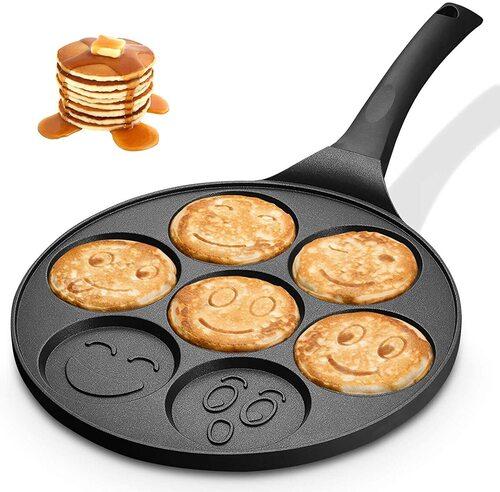 KUTIME Ceramic Coating Non-stick Pan Mini Pancake Maker